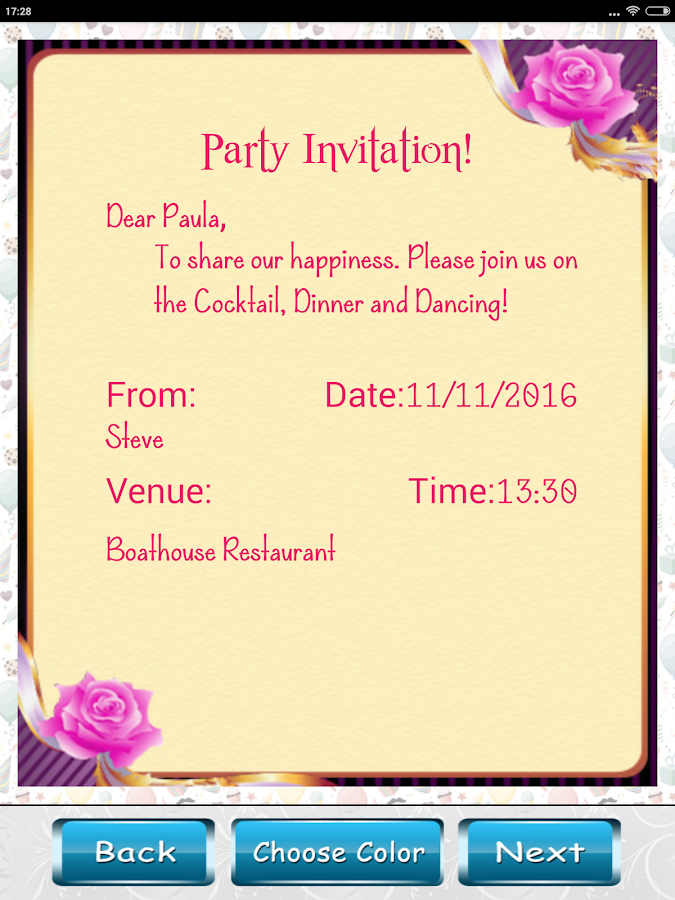 Party invitation card designer android apps on google play party invitation card designer screenshot stopboris Choice Image