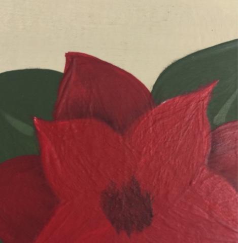 Float DecoArt's Soft black americana acrylic to create depth to your petals