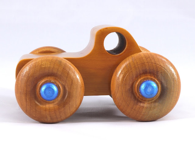 Handmade Wooden Toy Monster Truck Based on the Play Pal Pickup