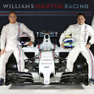 Williams Martini FW36 with drivers Susie Wolff, Valtteri Bottas, Felipe Massa and Felipe Nasr