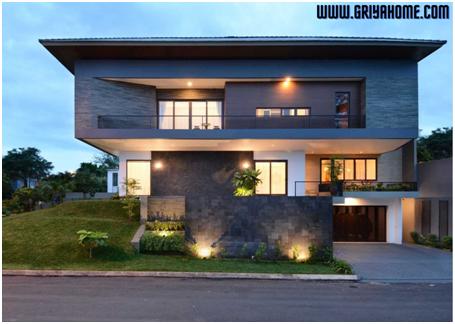 10 Desain Rumah Minimalis 2 Lantai Tampak Depan Modern