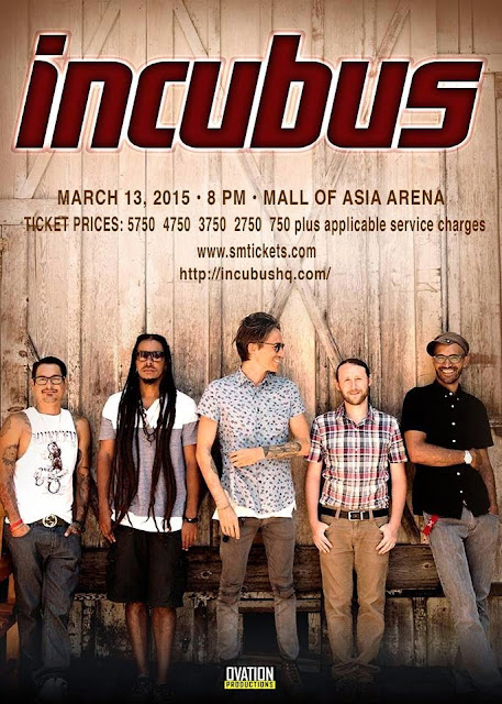 incubus live in manila 2015 with ticket prices)