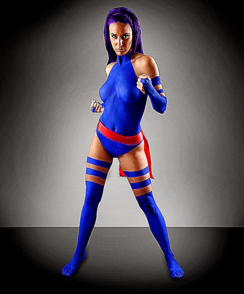 Psylocke Body Airbrush by kkingfx on DeviantArt