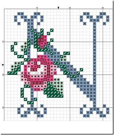 abc punto cruz letras con rosas  (13)