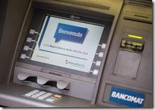 Sportello bancomat della banca