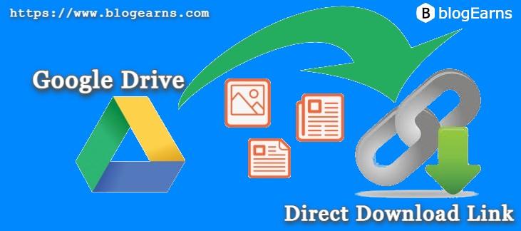 Google Drive Files Direct Download Link Generator