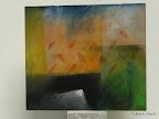 Entwurf, Altarbild, Auferstehung, Acryl, Buntstift, MDF, Alurahmen 2002