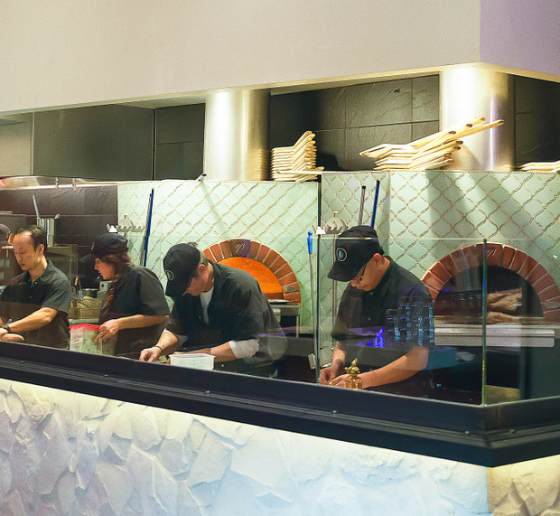 photo of employees working in the kitchen