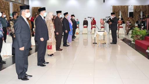 Malam-malam Gubernur Sumbar Lantik 9 Pejabat Tinggi Pratama, Amasrul Jabat Kepala Dinas PMD