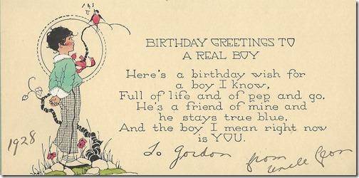 Birthday Greetings from Leon 1928