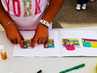 Creant històries al taller de còmic reciclat
