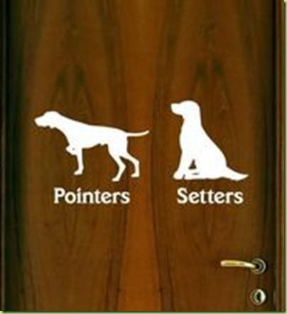 pointers setters bathroom