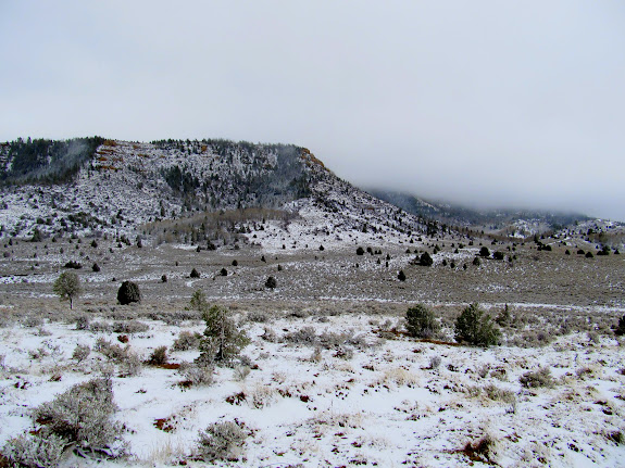 Snow at the divide between Nine Mile Creek and Soldier Creek