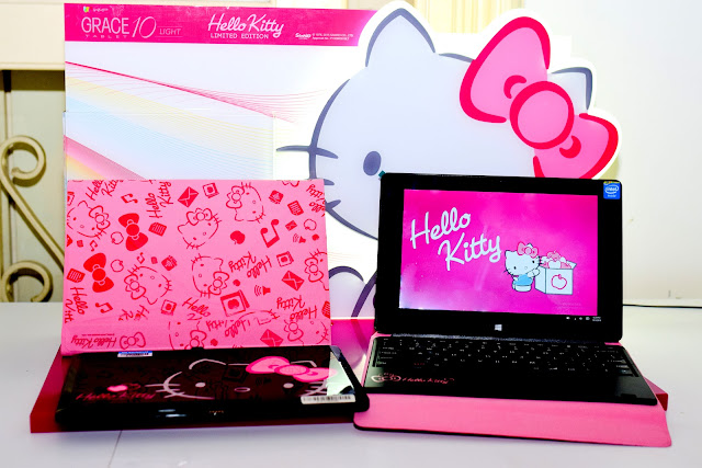 900890edc The Grace 10 Light Hello Kitty is a limited edition Windows 10 tablet that  comes with an exclusive pastel pink Hello Kitty Pigo keyboard to complement  its ...