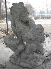 Animal, Exterior, Ideas, Lions, Natural Stone, Statues
