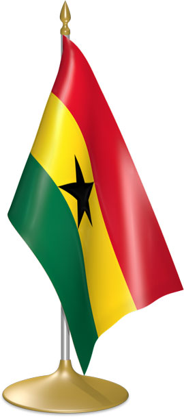 Ghanaian table flags - desk flags