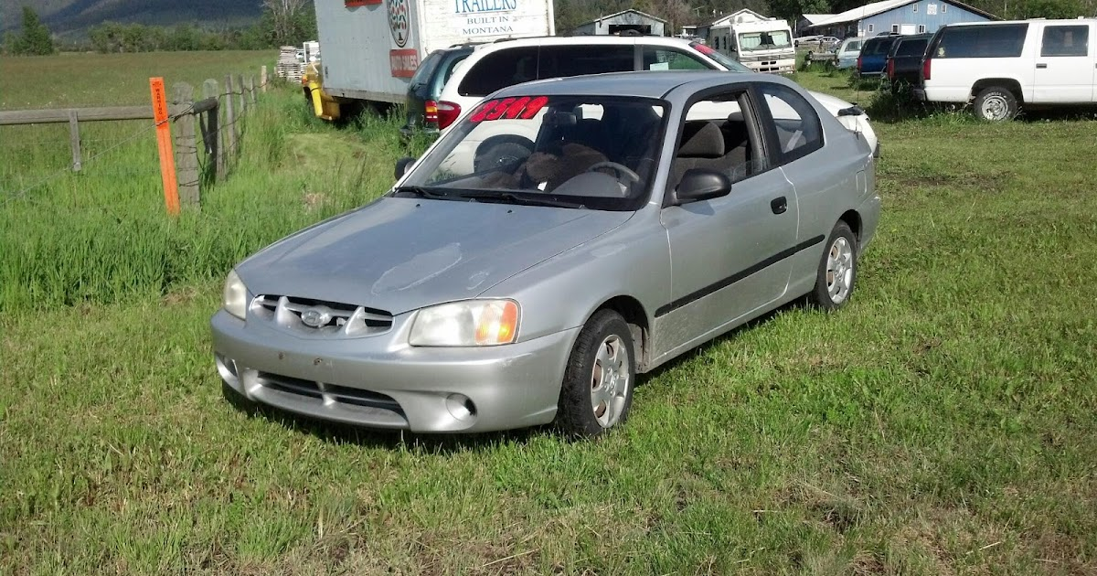 cars for sale at orangemt   2001 hyundia accent 95k 5 speed no a c 1500