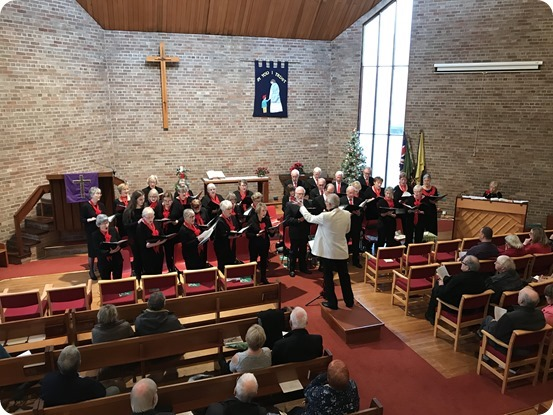 Publicity photo - Musical Director Phil Houghton conducts The Wistaston Singers