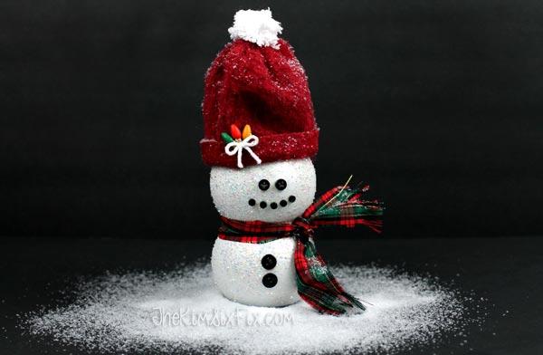 Pom Bottle Snowman