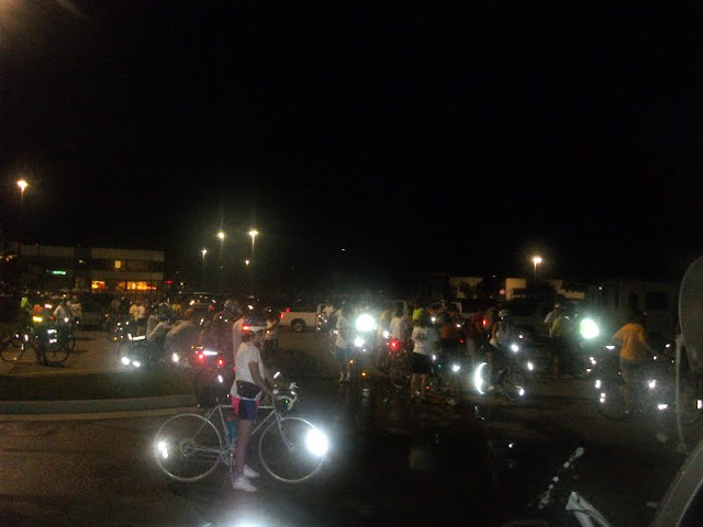 Start of the 2011 Tour de Jefferson City Moonlight Ride