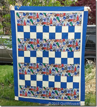 Checkmate Quilt Pattern - Baseball