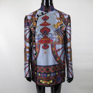 Dolce & Gabbana NEW Silk Chinese Painted Blazer Sz 48