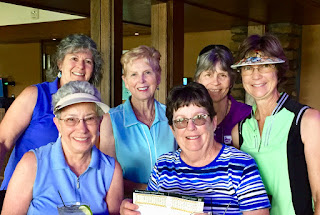 Mary Riorden celebrates her 4th lifetime hole-in-one with the Bravehearts on Monday, June 18th!  She hit a perfect shot on #2 Country Club!!!