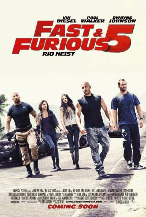 Poster Of Fast and Furious 5 (2011) Full Movie Hindi Dubbed Free Download Watch Online At Alldownloads4u.Com