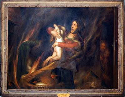 Antoine Wiertz - The burned child