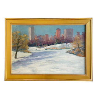 'The Lake - Central Park' Oil Painting