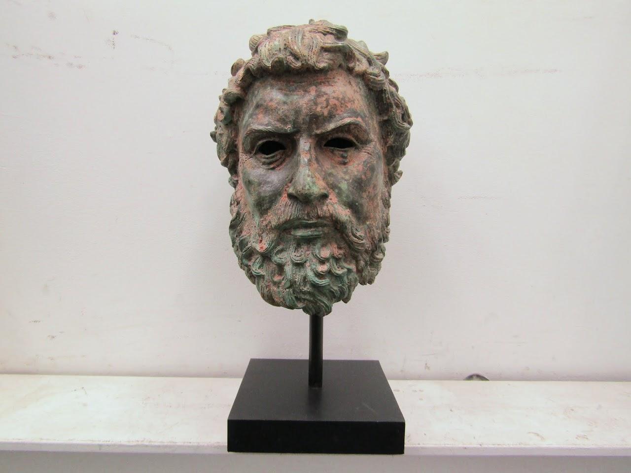 Greek Metal Bust