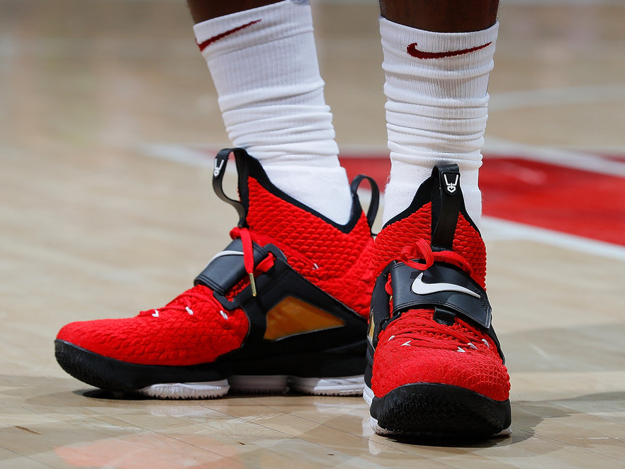 on sale ea452 53dcb LeBron Debuts Red Diamond Turf 15s in Tribute to Deion Sanders ...