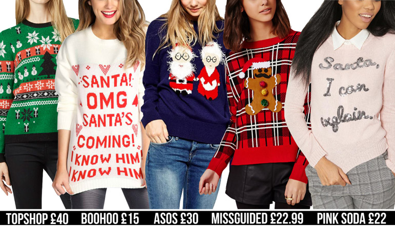 fashion high street festive christmas jumper