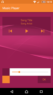 Simple Music Player - náhled