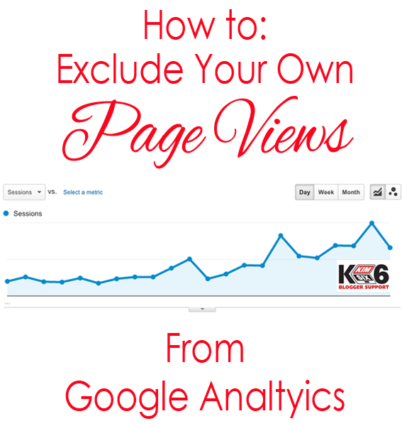 How to Exclude your own page views from Google Analytics