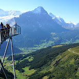 cliff walk in Switzerland in Grindelwald, Bern, Switzerland