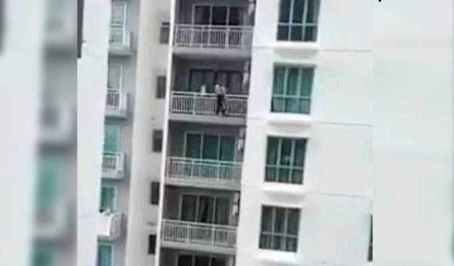 Penduduk tangkap 'Spiderman' panjat tingkat 19 pangsapuri