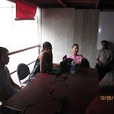 Co workers meet