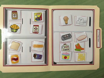 How to Teach Kitchen Skills using File Folders in a Special Education Classroom