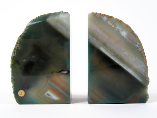 Agate Stone Green Book Ends