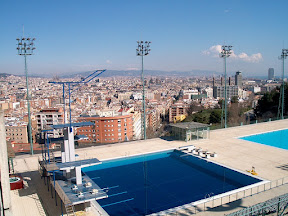 Olympic diving well and skyline, Barcelona