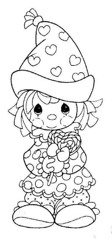Clown precious moments coloring pages coloring pages for Precious moments coloring page