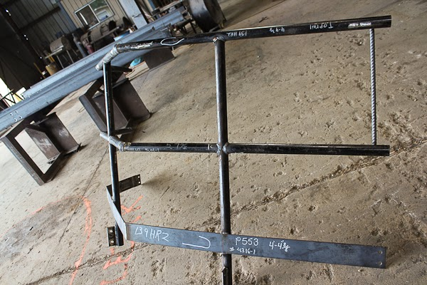 Mitered Carbon Steel pipe Handrail Fabrication