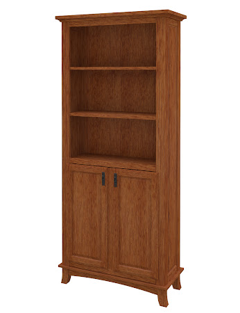 Glasgow Wooden Door Bookshelf in Washington Quarter Sawn Oak