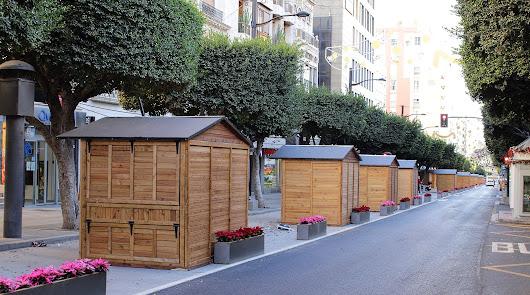 El Paseo de Almería acogerá 38 puestos navideños y la Rambla 39