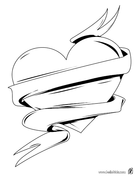 Hearts And Roses Coloring Pages  Love Heart Coloring Page  Heart Coloring  Pages