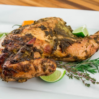 Smoky, Spicy Jamaican Jerk Chicken.