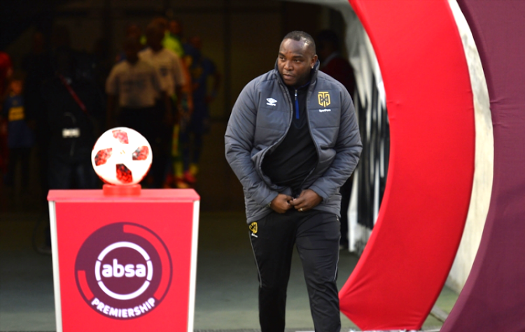 Cape Town City head coach Benni McCarthy enters the pitch of the Cape Town Stadium ahead of City's Absa Premiership match against SuperSport United on August 04, 2018.
