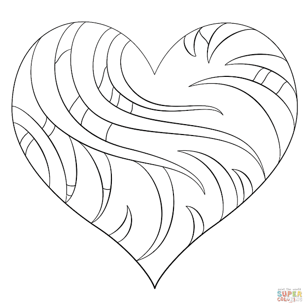 Click The Intricate Heart Coloring Pages To View Printable Version Or Color  It Online Patible With Ipad And Android Tablets