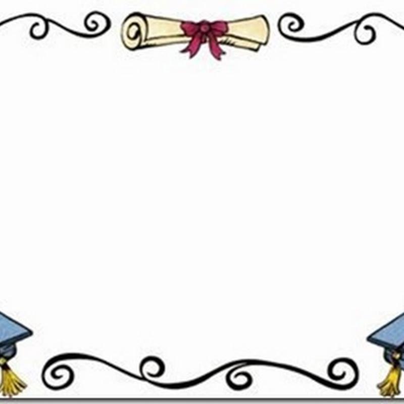 Bordes y orlas para graduación a imprimir
